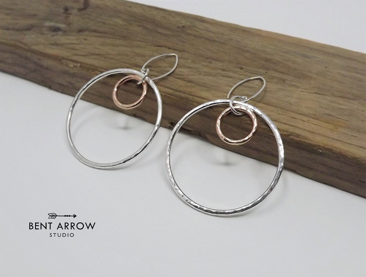 earrings jewellery silver co circle and gold stud rose ladies sterling plated image unique